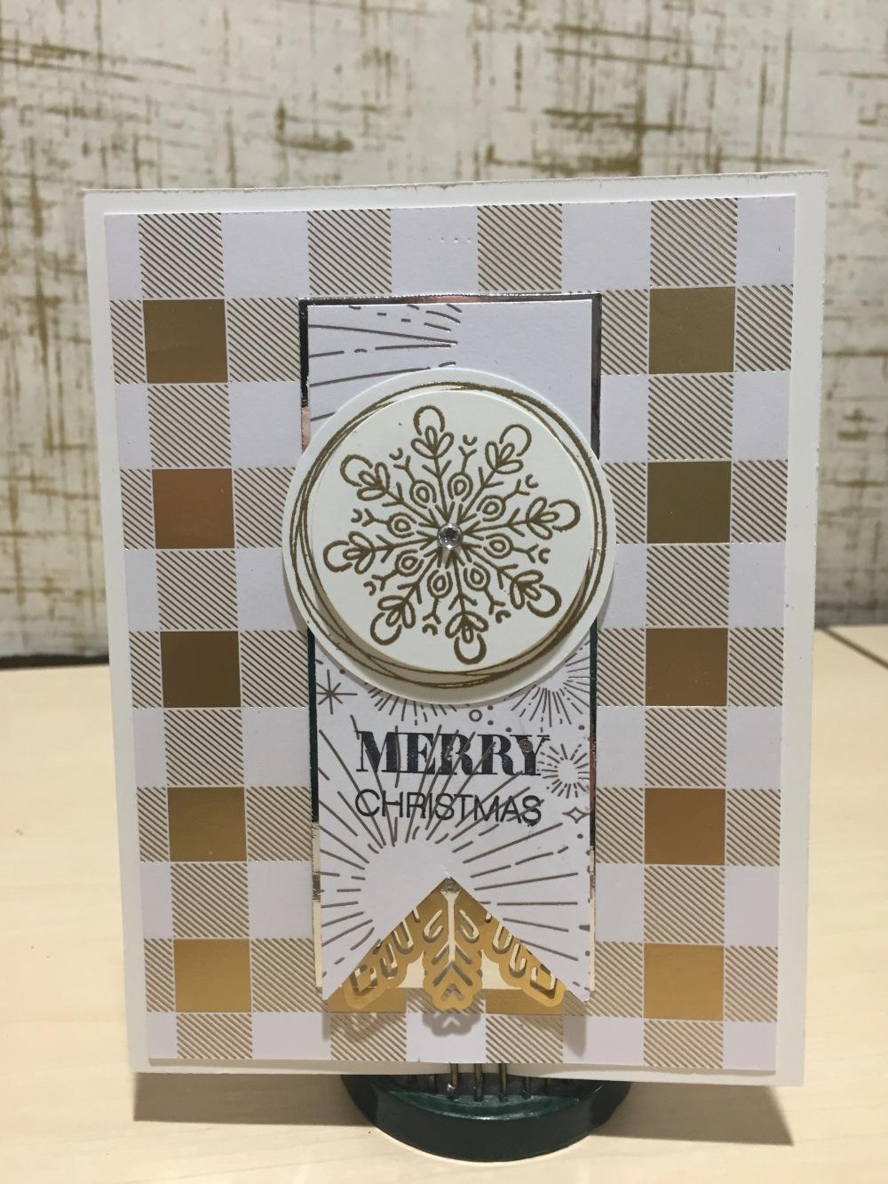 Snowflake Gold Doily Merry '17